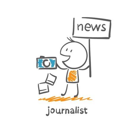 journalist photographed news illustration