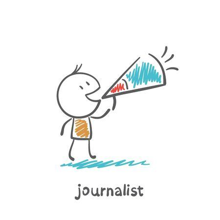 journalist says speaker illustration Stock fotó - 36068773