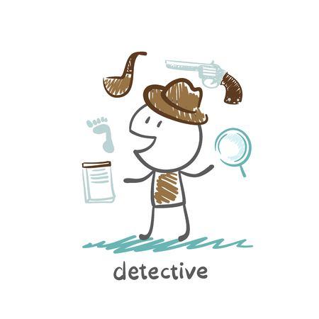 detective illustration