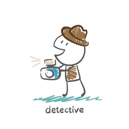 Detective photographs illustration
