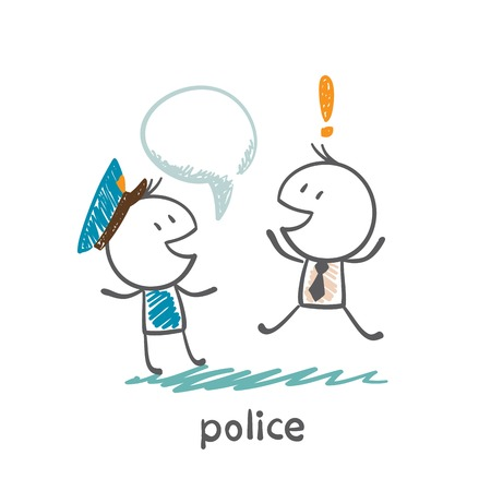 said: Police said a man illustration