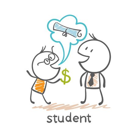 bribe: Students are given a bribe illustration