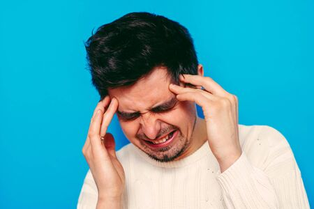 headache in men Stock Photo