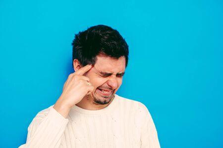 headache in men Standard-Bild