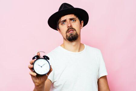 Clock, Man delay Foto de archivo