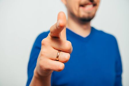 showing the index finger