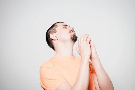 Prayer. Man. Фото со стока