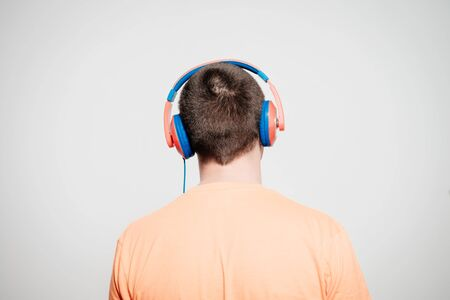 Man with headphones Banco de Imagens