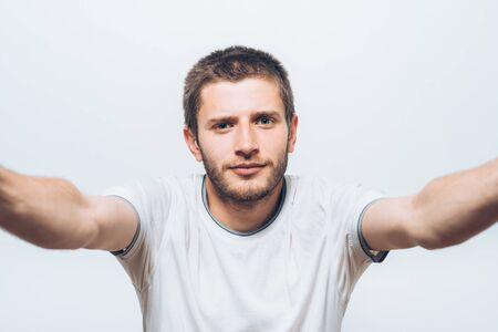 Man makes selfie