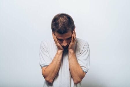 headache in men 免版税图像