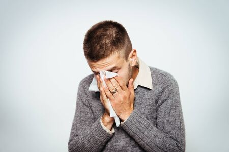 the man has a runny nose