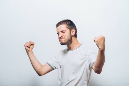 Joyful, a very happy man