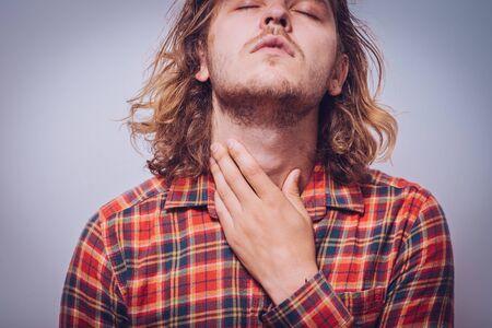sore throat man