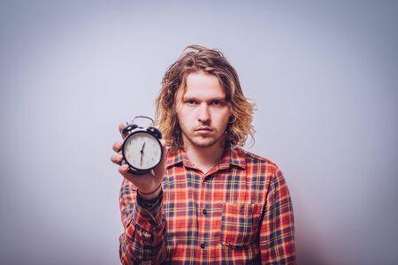Clock Man Foto de archivo