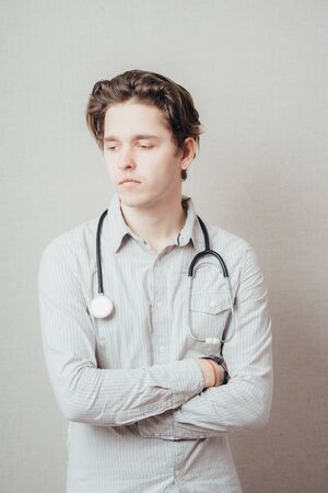 Male medical practitioner with stethoscope