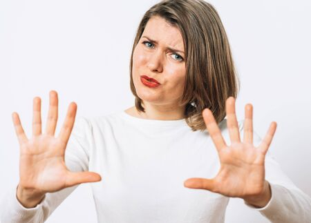Stop gesture girl