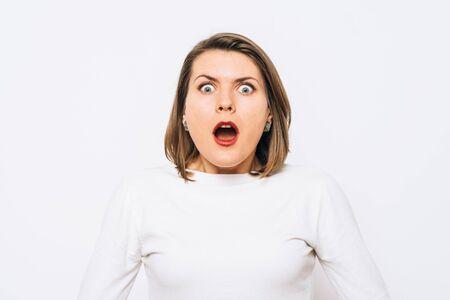 Woman surprised 版權商用圖片