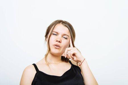 Woman thinks