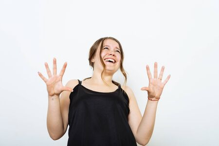 Woman laughing