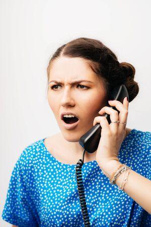 girl screaming on the phone