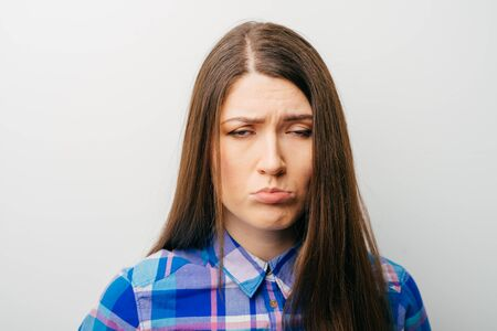 beautiful woman crying Stock Photo