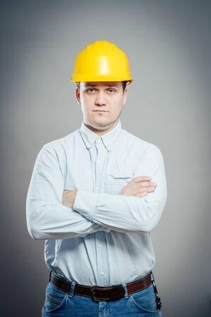 Construction Contractor Businessman Archivio Fotografico