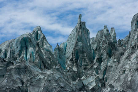 fox glacier: Fox Glacier closeup on Sth Island, New Zealand Stock Photo
