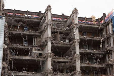 internals: A building is half way thru demolition leaving exposed internals