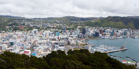 View from Mt Victoria over Wellington, New Zealand