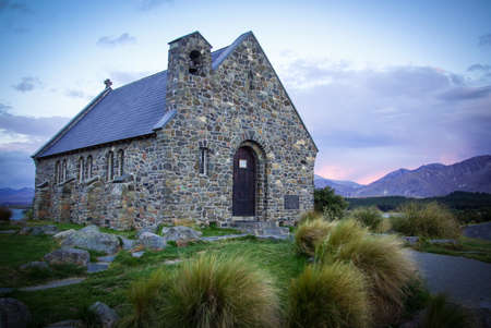 The Church Of The Good Shepherd near Lake Tekapo in New Zealand  photo