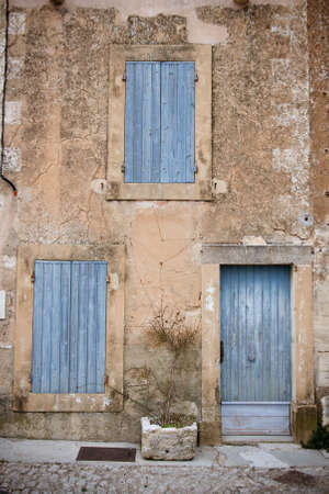 gordes: A building frontage in Gordes, Provence, France