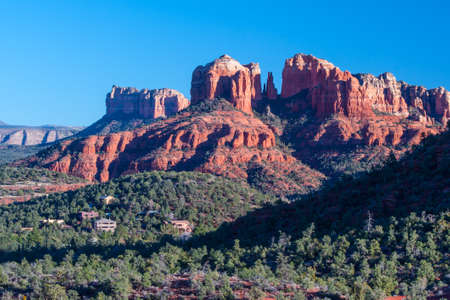 Cathedral Rock near Sedona on a winter photo