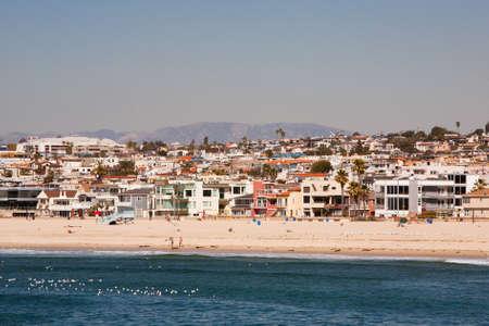 hermosa beach: Hermosa Beach on a warm sunny day in Los Angeles, California, USA Stock Photo