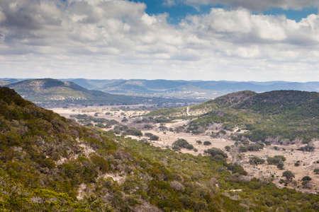 Een vallei in de buurt van Vanderpool en Medina in Texas, USA