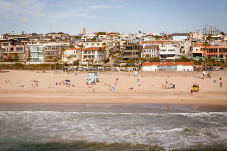 Manhattan Beach on a warm sunny day in Los Angeles, California, USA photo
