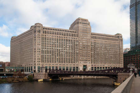 The Merchandise Mart on a clear winter