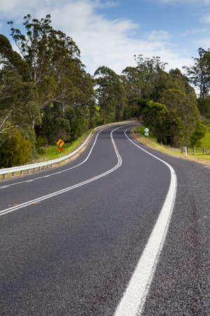 australia landscape: Winding Australian Road Stock Photo