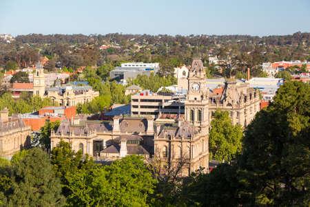 town halls: View over Bendigo Town Hall