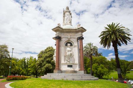 queen victoria: Melbourne Skyline Thru Queen Victoria Gardens