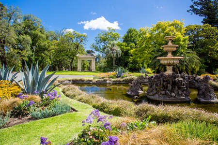 Fitzroy Gardens Stock Photo