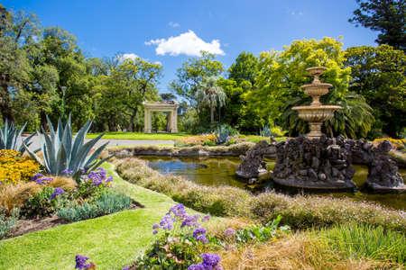 flower garden: Fitzroy Gardens Stock Photo