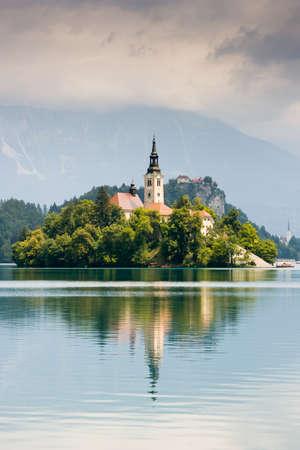 idyllic: Lake Bled Idyllic Scene