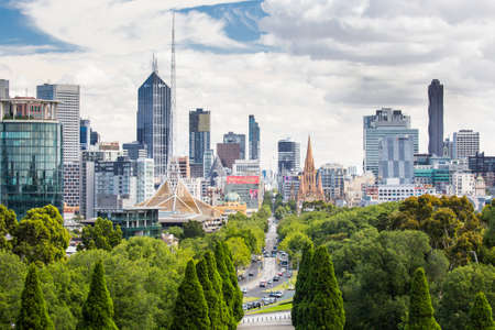 View of Melbourne CBD Editorial