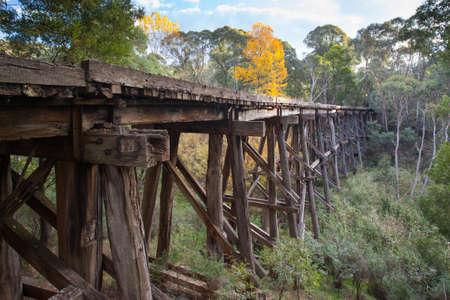 wood railroads: Old Trestle Bridge in Koetong