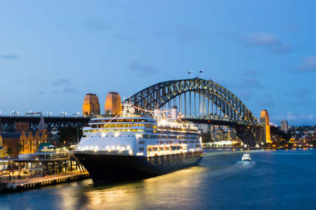 Sydney Harbour At Dusk Editorial