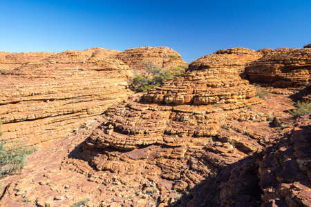 geology: The incredible rock geology of Kings Canyon in the Northern Territory, Australia