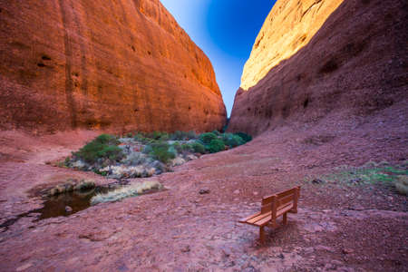 olgas: Walpa Gorge at The Olgas on a clear winters day in the Northern Terrotory in Australia2
