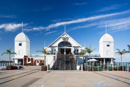 De beroemde bezienswaardigheid van Cunningham Pier in Geelong, Victoria, Australië Stockfoto