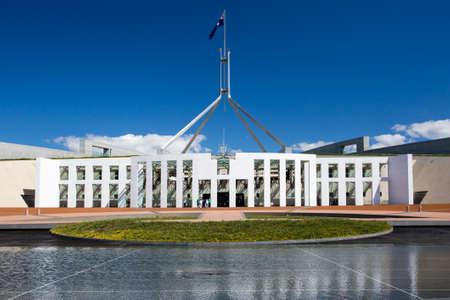 Die beeindruckende Architektur des Parlaments von Australien in Canberra, Australian Capital Territory, Australien