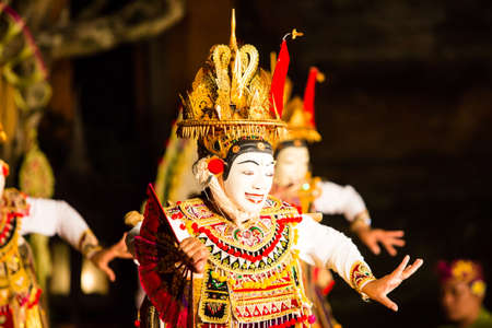 A traditional Balinese show in the centre of Ubud, Bali, Indonesia